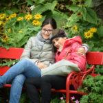 io e mia sorella al Castello di Cawdor e giardini, Scozia