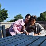 io e mia sorella in Scozia