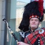 costume scozzese a Edimburgo, Scozia