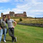 dante e flaminio al Castello di Tantallon, Scozia
