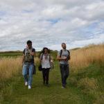passeggiata verso il Castello di Tantallon, Scozia