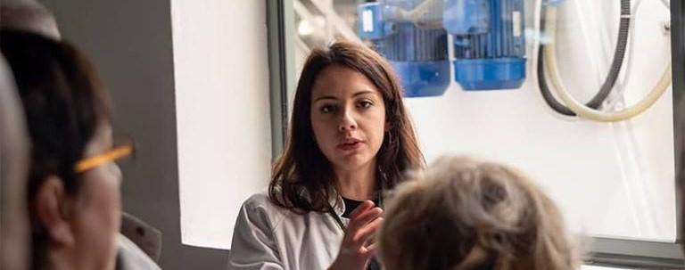 Valeria Marrone a lavoro