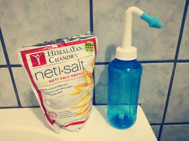 lavaggio nasale con sale dell'Himalaya acquistato su Amazon