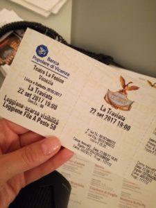 biglietto per La Traviata al Teatro La Fenice di Venezia