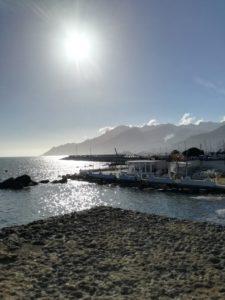 Salerno porto turistico in controluce