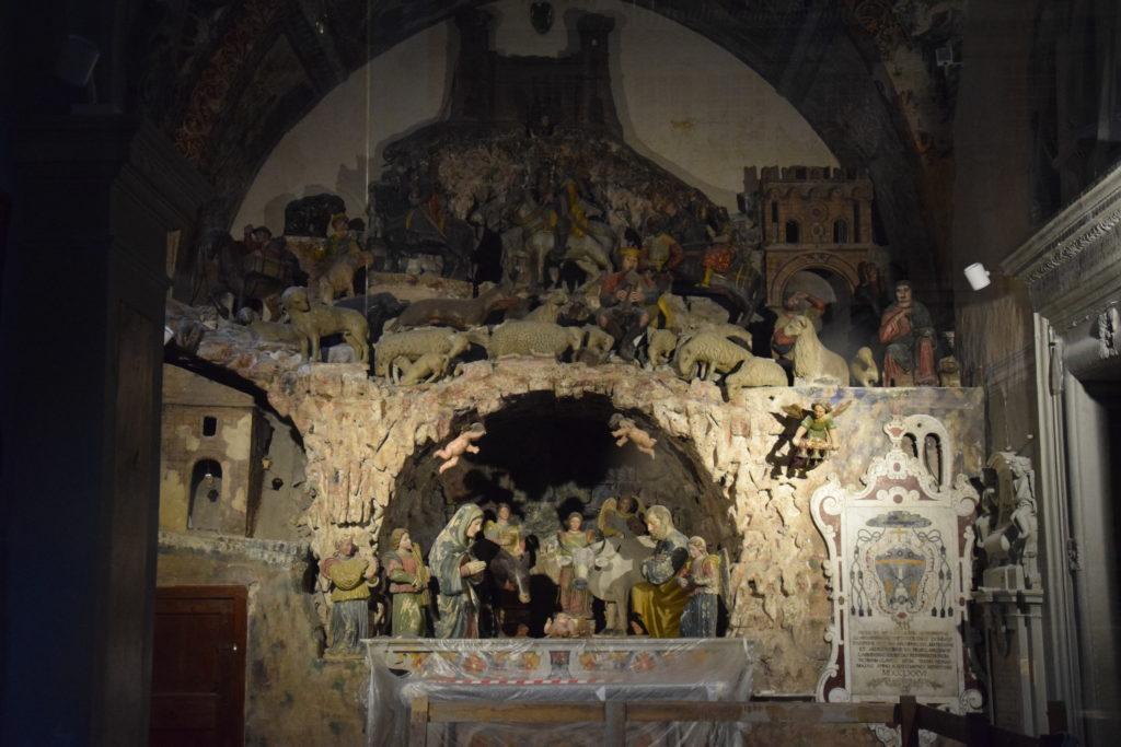presepe del Cinquecento custodito all'interno della Cattedrale di Matera
