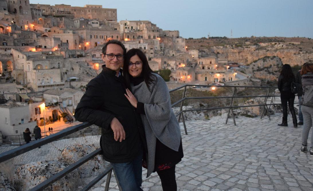 Io e Paolo a Matera