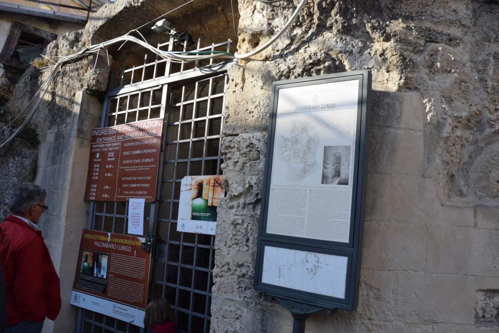ingresso cisterna Palombaro Lungo