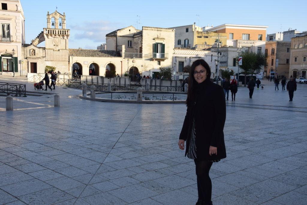 io in piazza a Matera