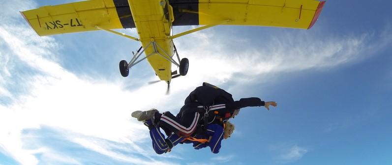 Pamela Cazzaniga in volo da 4000 metri