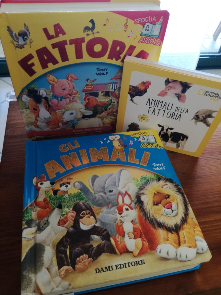 libri con i versi degli animali